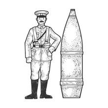 World War I Soldier And Huge C...