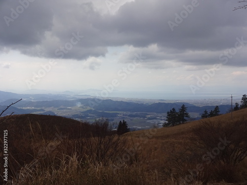 The view of Ibuki Mountain in Japan фототапет