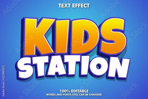 Obraz Cartoon text effect for sticker or banner - fototapety do salonu