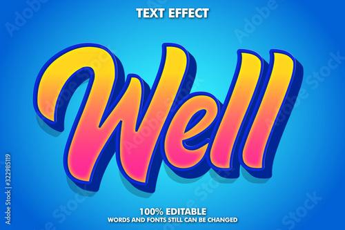 Fényképezés Stylish modern text effect