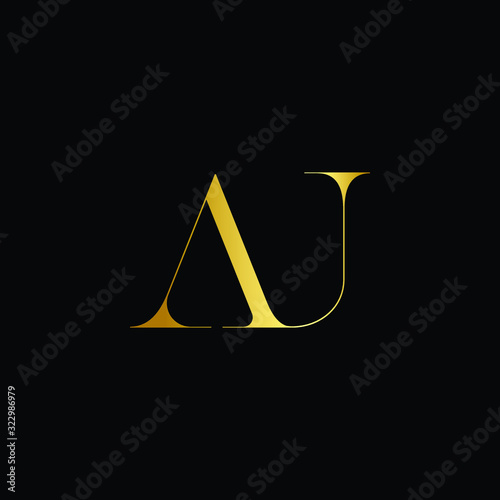 Elegant minimal luxurious AG or A and G initial based letter icon logo Canvas Print