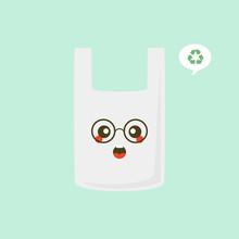 Plastic Bag Cartoon Character ...