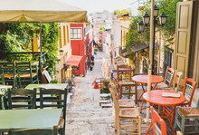 Charming Street With Cafe Bars...
