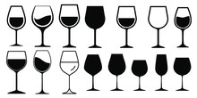 Wine Glass Icon Vector Simple ...