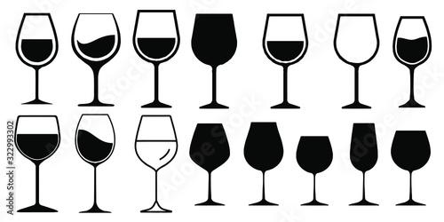 Fototapeta Wine Glass Icon Vector Simple Design symbols obraz