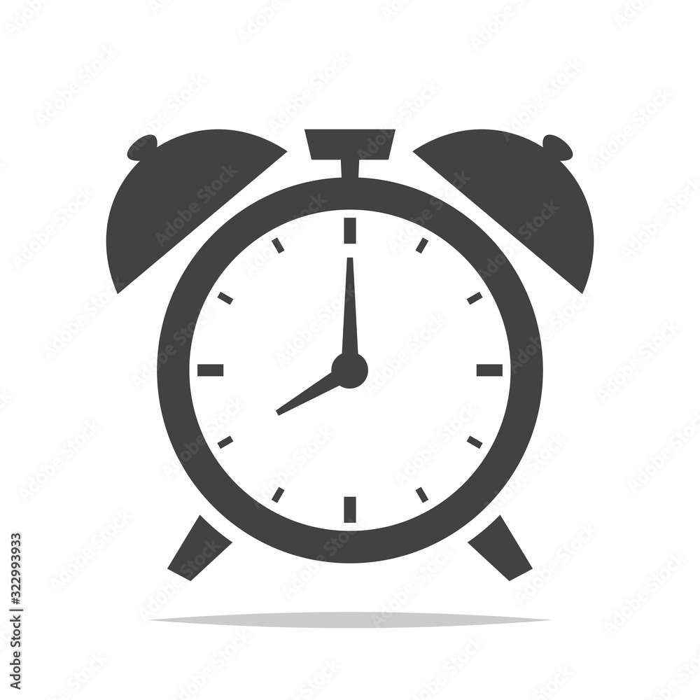 Fototapeta Alarm clock icon vector isolated illustration