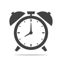 Alarm Clock Icon Vector Isolat...