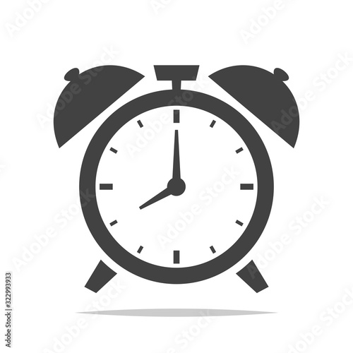 Fototapeta Alarm clock icon vector isolated illustration obraz