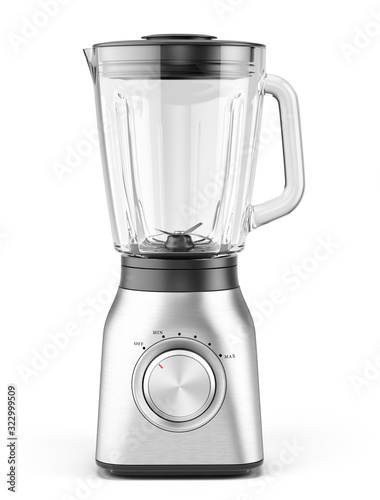 Blender appliance with glass container isolated on white background Canvas Print