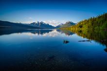 Lake McDonald In Glacier Natio...