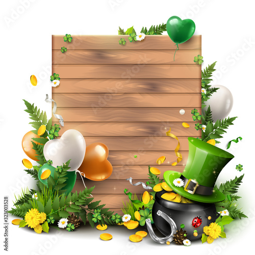 St. Patrick's Day empty background Wall mural