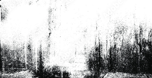 Fototapeta Rough black and white texture vector. Distressed overlay texture. Grunge background. Abstract textured effect. Vector Illustration. Black isolated on white background. EPS10. obraz