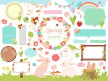 かわいい春素材