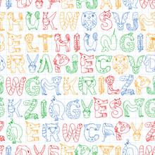 Animal Alphabet. Zoo Alphabet....