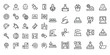 Engineering and manufacturing vector icon set