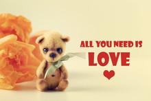 Teddy Bear, Tulips, Text All Y...
