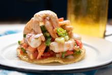 Mexican Shrimp Ceviche Toast A...