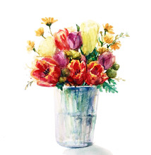 Bouquet Of Tulips And Other Fl...