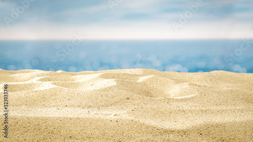 Fototapeta summer background of sand and free space for your decoration  obraz