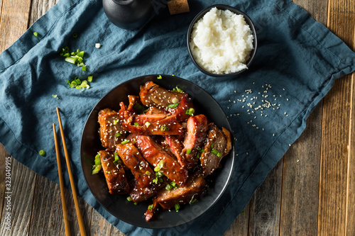 Fototapeta Homemade Chinese BBQ Pork Ribs obraz