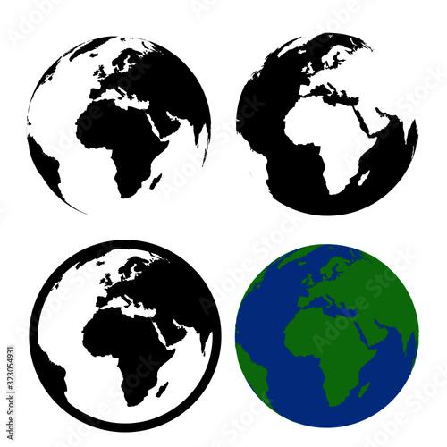 Canvastavla world icon earth planet icon