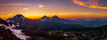 Sunset In The Mountains - Pano...