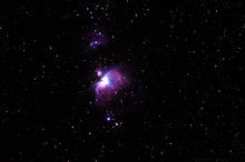 Orion Nebula In The Star Constellation Of Orion On Winter Sky