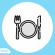 Cutlery vector icon sign symbol