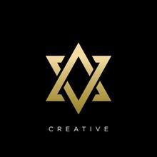 Av Or Va Star Logo Design Vector Icon