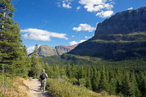 Vászonkép Summer hiking in Glacier National Park, Montana, USA