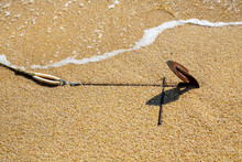Old Rusty Anchor Of Motor Boat...