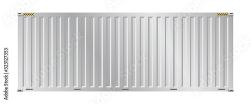 Stampa su Tela Cargo container vector design on white background for shipping work