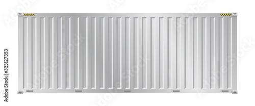 Fototapeta Cargo container vector design on white background for shipping work. obraz