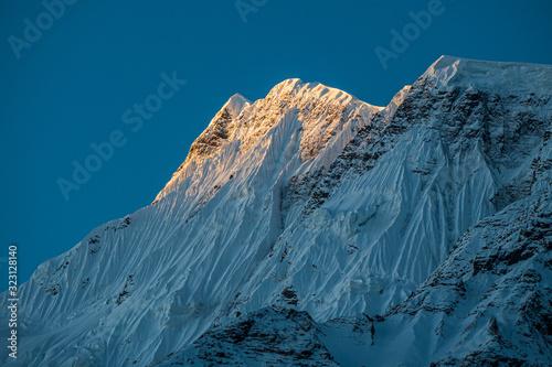 Sun on the mountain peak