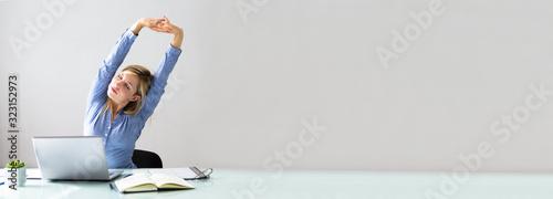 Fototapeta Businesswoman Stretching Her Arms obraz