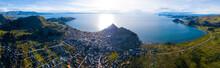 Aerial Panorama Of The Lake Of...
