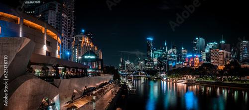 Foto Big city night scape