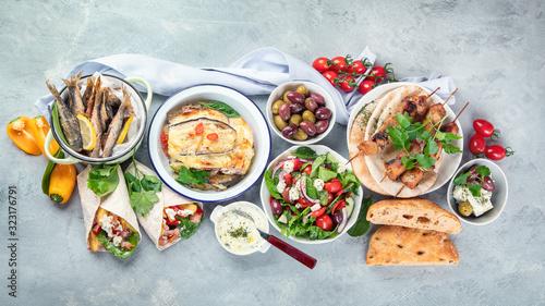 Obraz Greek food - fototapety do salonu