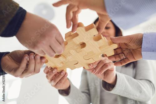 Concept of partnership creative work startup teamwork team business people Canvas Print