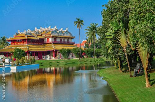 Architecture, Ayuthaya, Bang Pa In, Bang Pa-In Royal Palace, Cloud - Sky Canvas Print