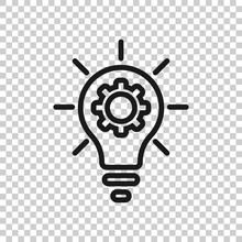 Innovation Icon In Flat Style....