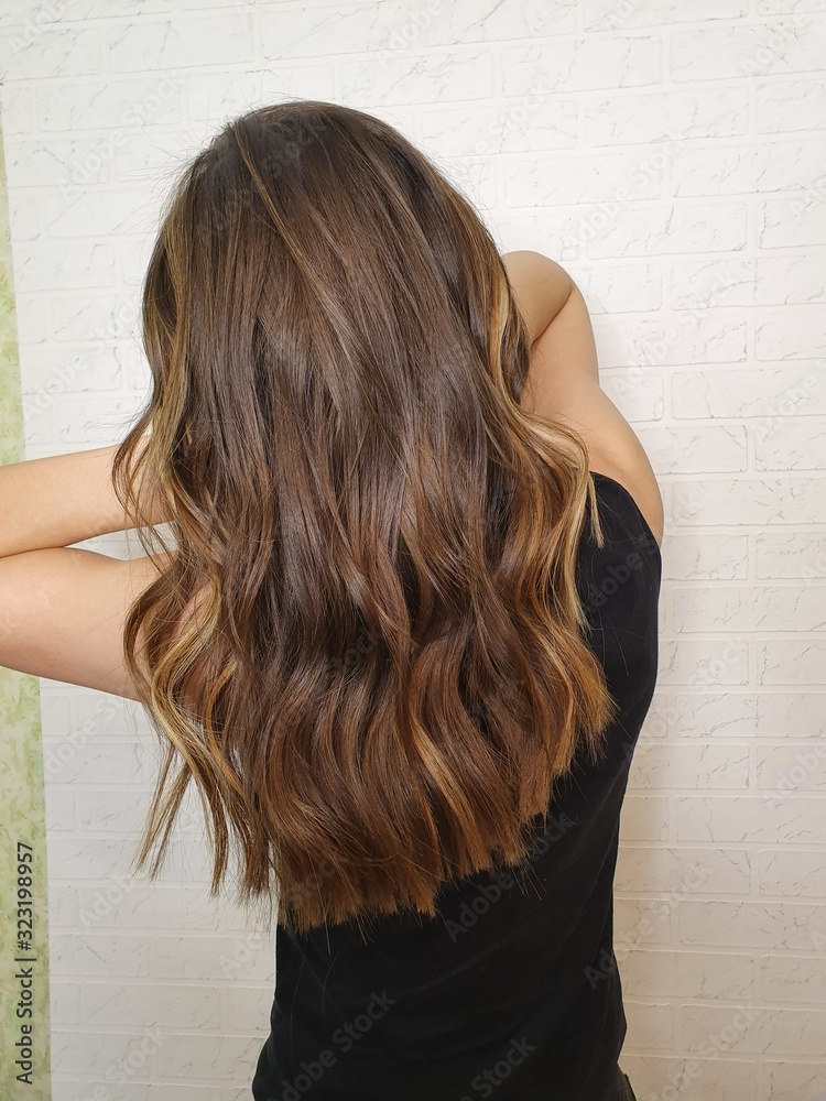Fototapeta woman with long hair
