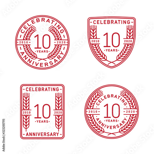 Photo 10 years anniversary celebration logotype