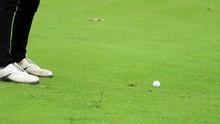 Golfer Hitting Ball From Fairway