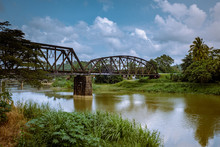 Lang Suan Railroad Over The River In Chumphon Thailand