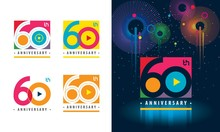 Set Of 60th Anniversary Logoty...