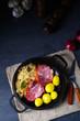 Leinwanddruck Bild boiled sauerkraut and delicious saddle of pork