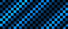 Blue And Black Checkered Flag ...