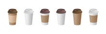 Paper Coffee Cup Mockups Set. ...