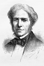 Michael Faraday. Scientist And Physicist. 1791-1867. Antique Illustration. 1883.
